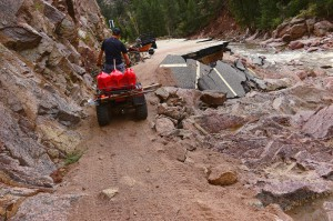 The small mountain canyons are devastated by the massive floods to hit 14 counties in CO.